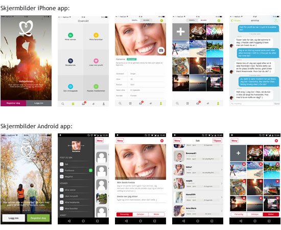 NettDating iPhone og Android Apps